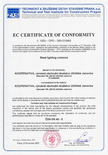 Certification - Kooperativa
